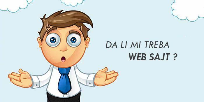 da li mi treba web sajt