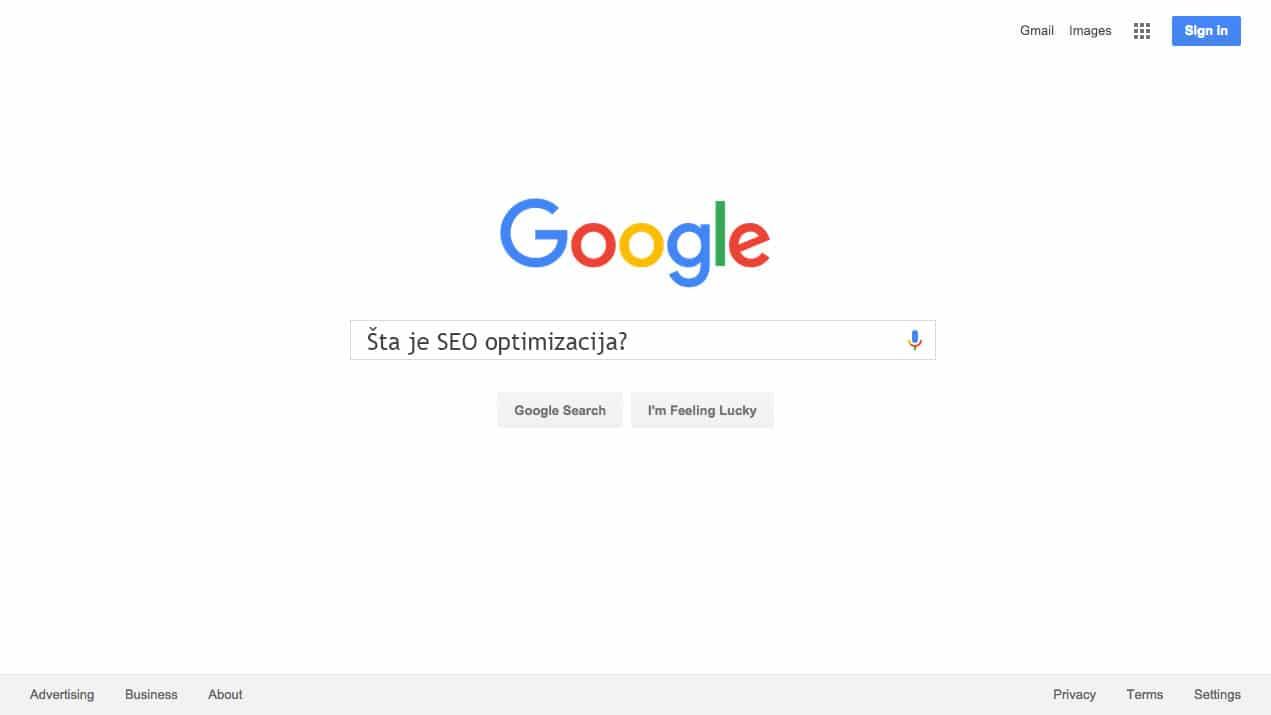 sta je seo optimizacija google pretraga